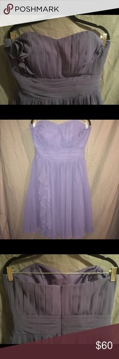 "Formal Dress Glorious flowing eggplant chiffon dress! The first picture represents the color the best. The dress is stunning! I am 5'9"" and it hits right below the knee. Dresses Wedding"