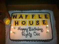 Waffle House themed birthday cake