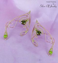 Crystal Yavanna Elf Ears by SilverElfJewelry on Etsy, $54.00