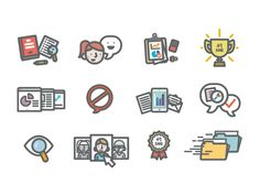 Working on a bunch of little illustrations and icons for a book. Fun lil' project!