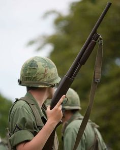 Well I ain't no double o seven I ain't no double o soul I'm not the coolest cat around my love needs a Mohair Sam I'm not the son of the… Vietnam War Photos, Vietnam Veterans, Ithaca Shotgun, Navy Special Forces, American Soldiers, Guns And Ammo, American Revolution, Cold War, Shotguns