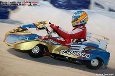 Fernando Alonso gana la carrera de karts sobre hielo del Wrooom 2013  Giancarlo Fisichella y Felipe Massa han completado el podio