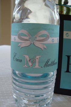 Water Bottle Labels Printable Wraps Wrapper by MadeByAPrincess, $10.00