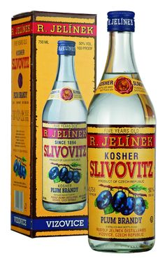R. Jelinek Slivovitz Plum Brandy 5 year old which is a tradition in central and eastern europe to drink before breakfast