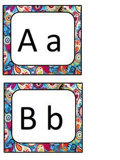 Alphabet porte-clé