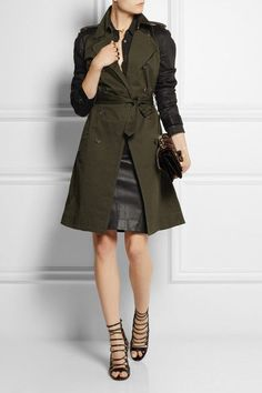 Altuzarra for Target Green Black Military Trench Coat Sold Out RARE S | eBay