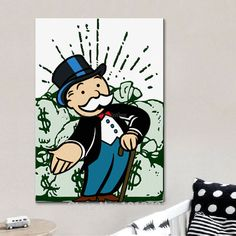 Money Bag Thai - - Money Tree Craft - Make Money Teenager - Holding Money Guy - Cute Canvas Paintings, Mini Canvas Art, Street Art Graffiti, Graffiti Canvas Art, Art Sketches, Art Drawings, Dibujos Pin Up, Cheap Art, Canvas Designs