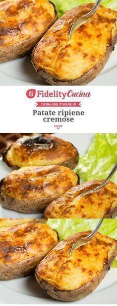 Creamy stuffed potatoes – About Breastfeeding I Love Food, Good Food, Yummy Food, Vegetarian Recipes, Cooking Recipes, Italy Food, Veggie Side Dishes, Italian Recipes, Food Inspiration