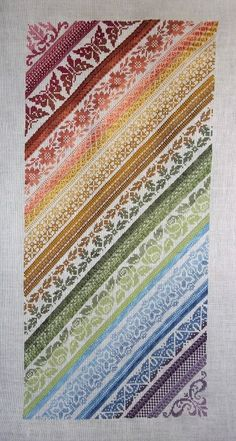 Twisted Band Sampler PDF Chart by Northern Expressions Needlework