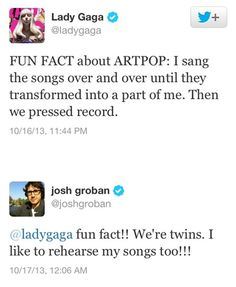 Josh Groban for the win.