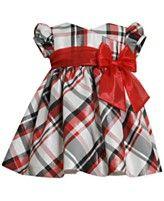 Bonnie Baby Baby Girls' Plaid Cap Sleeve Dress