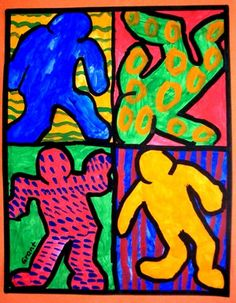 Keith+Haring+Action+Figures+-+Artsonia+Lesson+Plan