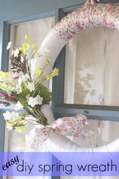 Easy DIY Spring Wreath -Momo