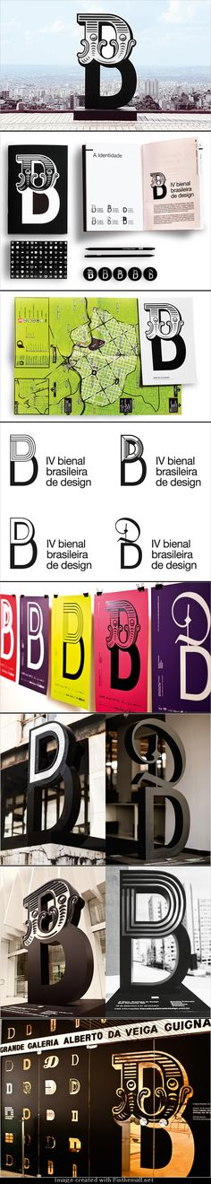 Fantastic Collection of 'B's taken from Brazil's 4th Design Biennial /Greco Design #Typography #Letters #Design