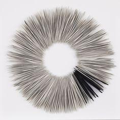 Valéria Nascimento'Black & White Ring' 70 x 70cm Porcelain