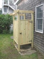 1000 ideas about outdoor shower enclosure on pinterest - How to make an outdoor shower ...