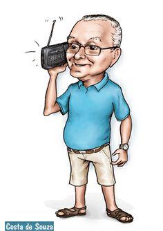 Caricatura de presente de aniversário de 80 anos. #caricature #gift