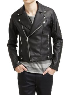 New Men's Leather Jacket Black Biker Motorcycle Real lambskin Slim Fit Coat L XL Lambskin Leather Jacket, Leather Men, Leather Jackets, Biker Leather, Real Leather, Black Leather, Slim, Motorcycle Jacket, Store