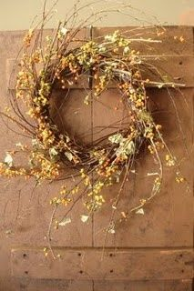 """12"""" decorated, Birch wreath from The Naturals, like us on facebook!"""