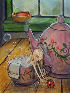 Kelly Vivanco ♥ Springs To Mind, Thinkspace Art Gallery ¤ non solo Kawaii Art And Illustration, Animal Illustrations, Illustrations Posters, Inspiration Art, Art Inspo, Fantasy Kunst, Fantasy Art, Art Fantaisiste, Fairytale Art