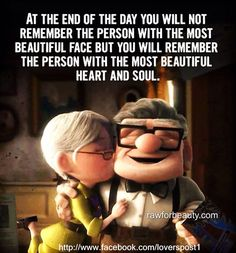 Pin for Later: 38 of the Best Disney Kisses of All Time Ellie and Carl, Up Online Yoga Classes, True Love, My Love, Most Beautiful Faces, Beautiful Soul, Beautiful Person, Beautiful People, Disney Quotes, Disney Movies