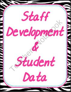 Staff Development & Student Data Binder Cover product from kismet56 on TeachersNotebook.com