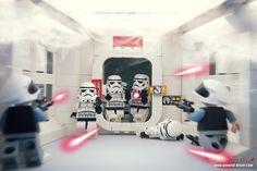 Rush by storm TK431   LEGO Star Wars Stormtrooper & Rebel Trooper Minifigs