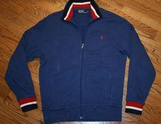 Polo Ralph Lauren blue zip Track Jacket Men's Medium hiking/camping/cycling/walk #PoloRalphLauren #CoatsJackets