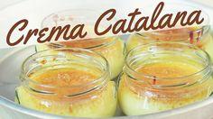 Crema Catalana ricetta facile - How to Make Catalan Cream  INGREDIENTI: 4 tuorli d'uovo, 120 g di zucchero, 25 g di amido di mais, 1/2 litro di latte, cannella e vaniglia a piacere, zucchero di canna per decorare.
