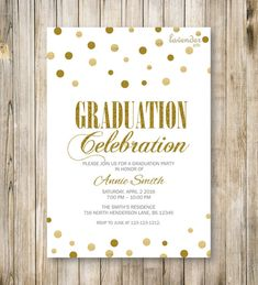 Rustic Graduation Party Invitation Chalkboard Graduation Party