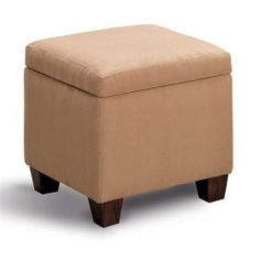 Microfiber Cube Ottoman Foot Stool - Coaster 500901 by Coaster Home Furnishings. $91.97. Living Room Furniture. This tan microfiber cube ottoman will match any decor. It's flip top reveals convenient storage space. Come home and prop your feet on this ottoman for a relaxing evening. Shipping is free and products are usually in stock.
