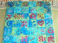handpainted mosaic art tiles