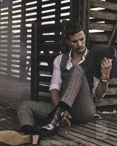 Nathaniel Visser por Jack Terrey para GQ Australia