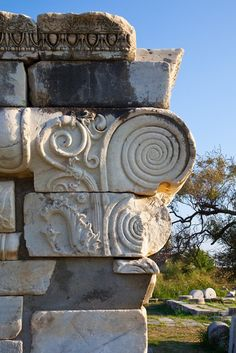 Ephesus, Turkey. The spiral shows up over and over throughout the world.