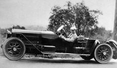 The great director King Vidor (The Big Parade, The Crowd) behind the wheel of this unidentified car, 1920s.