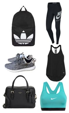 """""""Untitled #257"""" by savannahtaylor950 on Polyvore featuring Topshop, adidas, Kate Spade and NIKE"""