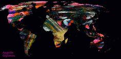 World Map And Human Life  Augusta Stylianou