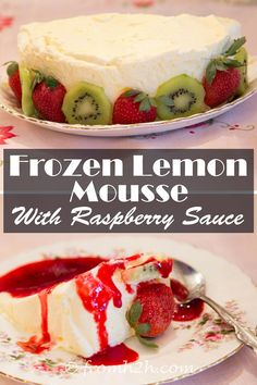 Frozen Lemon Mousse With Raspberry Sauce | Looks really pretty, and ...