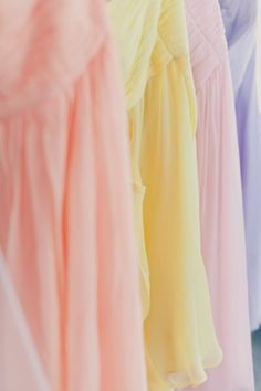 beautiful soft, flowy pastel garments