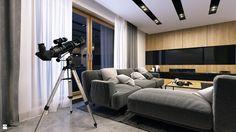 Wystrój wnętrz - Salon ze ścianą tv - pomysły na aranżacje. Projekty, które stanowią prawdziwe inspiracje dla każdego, dla kogo liczy się dobry design, oryginalny styl i nieprzeciętne rozwiązania w nowoczesnym projektowaniu i dekorowaniu wnętrz. Obejrzyj zdjęcia! - strona: 7
