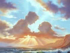 Angelic Cloud Formations. Vladimir Kush, No Wave, Fantasy Kunst, Fantasy Art, Angel Clouds, Wow Art, Surreal Art, Optical Illusions, Oeuvre D'art