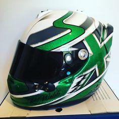 Richard Webb's new painted arai. #motorsport #araihelmet #custompaint