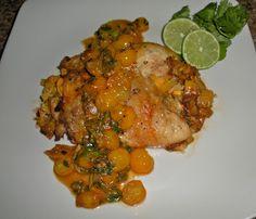 Chef JD's Classic Cuisine: Mango Stuffed Chicken with Yellow Sunburst Tomato ...