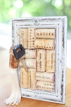 Wine Cork Board- Delicate jewelry or key holder.