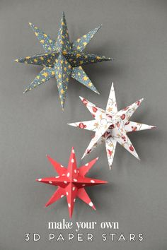 Christmas Paper Crafts ~ 18 Diy Inexpensive And Fun Project Ideas . Christmas Paper Crafts ~ 18 DIY Inexpensive and Fun Project Ideas diy christmas paper crafts - Diy Paper Crafts Diy Christmas Star, Diy Christmas Decorations Easy, Christmas Craft Projects, Christmas Paper Crafts, Holiday Crafts, Christmas Holidays, Vintage Christmas, Spring Crafts, Christmas Vacation