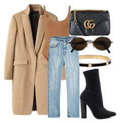 """Look:#545"" by dollarwomanlux ❤ liked on Polyvore featuring Steve Madden, Henri Bendel, rag & bone, Eres, Alexander McQueen, Gucci and Moschino"