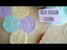 CROCHET: Solid hexagon and joining tutorial   Bella Coco - YouTube