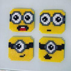 Minion coasters hama beads by azaila