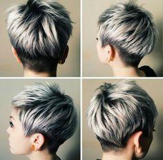 Cheveux gris : les 30 plus belles coiffures trouvées sur le net !