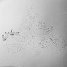 O que irá sair daqui?!  #fixaroinstante #draw #ink #graphite #art